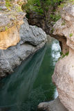 River Belaya (White) is in Khadzhokhsky gorge Royalty Free Stock Photo