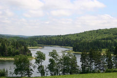 River Bend. Scenic bend in the Trout River, Prince Edward Island stock photo