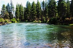River In Bend Oregon. View of river in Bend Oregon stock image