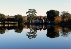 River Beulieu in the New Forest hampshire. stock photos