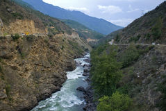 River, Bhutan Stock Photography
