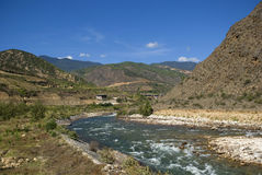 River, Bhutan Stock Photo