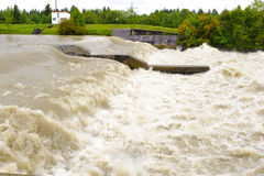 River with big flood Stock Image