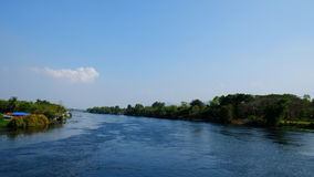 The river. The big river in western of thialand Royalty Free Stock Photo