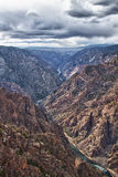 River in Black Canyon of the Gunnison Park, CO Royalty Free Stock Photos