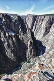 River in Black Canyon of the Gunnison Park, CO Royalty Free Stock Photo