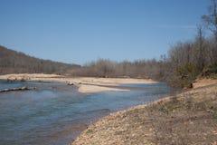 River. The Black River in Lesterville, Missouri stock photos