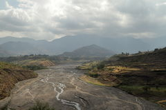 River of the Blue Nile in Ethiopia Stock Images