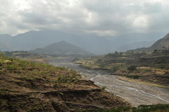 River of the Blue Nile in Ethiopia Royalty Free Stock Images