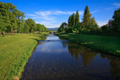 River on blue sky Royalty Free Stock Photos