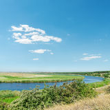 River and blue sky Royalty Free Stock Images