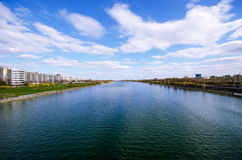 River with blue sky Stock Image