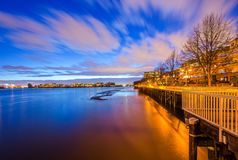 River boardwalk in the evening Royalty Free Stock Photo