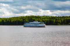 River boat cruise and river Moscow Canal Royalty Free Stock Images