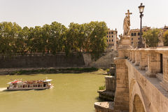 River boat cruise in Rome Italy stock photos