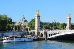 River boat in Paris capital and the most populous city of France. Paris capital and the most populous city of France and seine river stock photos