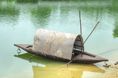 River boat. A river boat parked at the shore line Royalty Free Stock Photography