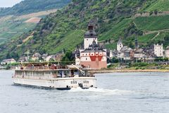 River Boat on The Rhine River Stock Image