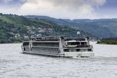 River Boat on the Rhine River Royalty Free Stock Photography