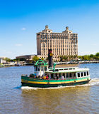 River boat on Savannah river  Stock Photo