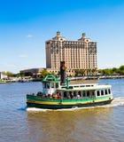 River boat on Savannah river  Stock Photo