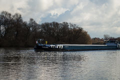 River with boat #4. Seligenstadt Royalty Free Stock Photography