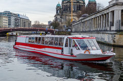 River boat sightseeing on Spree in Berlin Stock Image
