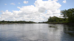 River boat sky stock footage