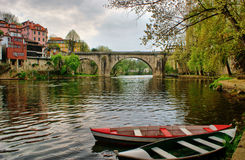 River boats in Amarante Royalty Free Stock Photos