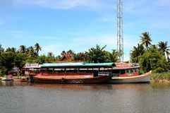 River boats. On the Chaophaya river Royalty Free Stock Image