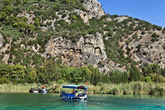 River boats in Dalyan. Royalty Free Stock Photography