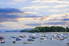 River boats on Danube Royalty Free Stock Image