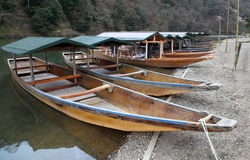 River boats - Kyoto Japan Stock Photography