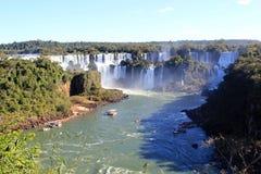 River boats and waterfalls royalty free stock image