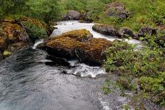 River Bondhuselva flowing out of lake Bondhus in Folgefonna national park, Hordaland county, Norway.  royalty free stock photo