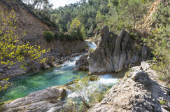 River Borosa Walking Trail in the Sierra Cazorla Mountains. River Borosa Walking Trail in the Sierra Cazorla Mountain Range, Jaen Province, Andalusia, Spain Stock Photo