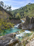 River Borosa Walking Trail in the Sierra Cazorla Mountains. River Borosa Walking Trail in the Sierra Cazorla Mountain Range, Jaen Province, Andalusia, Spain Stock Photos