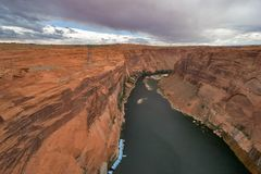 The river at the bottom of a canyon stock photography
