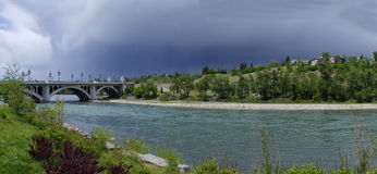 River Bow in Calgary just before the storm Royalty Free Stock Photos