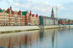 River and brick city. River in the city of Yoshkar-Ola Stock Images