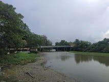River&bridge stockbild