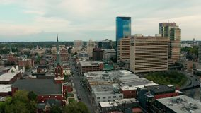 Aerial View Retreat from Downtown Lexington Kentucky USA