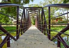 River Bridge. Iron bridge over the river Royalty Free Stock Image