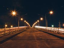 River bridge at night Royalty Free Stock Photo