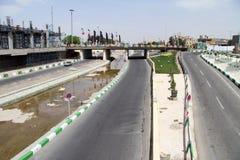 River, bridge and road Stock Image