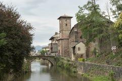 River and bridge Saint Jean Pied de Port Stock Images
