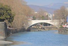 River and bridge in Sochi, Krasnodar krai Stock Image