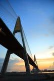 River Bridge. Sunrise on Choaphaya river bridge; Bangkok, Thailand Stock Photos