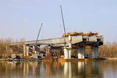 River Bridge Under Construction Stock Image