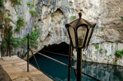 River Buna spring and in Blagaj stock photo